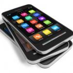 Set of touchscreen smartphones