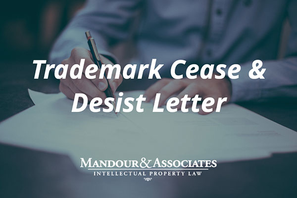Trademark Cease And Desist Letter