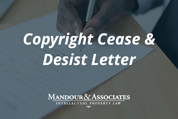 cease and desist letter copyright infringement